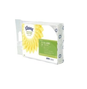 Kleenex Ultra Toilet Tissue Bulk Pack 2-Ply White 200 Sheets (Pack of 8)
