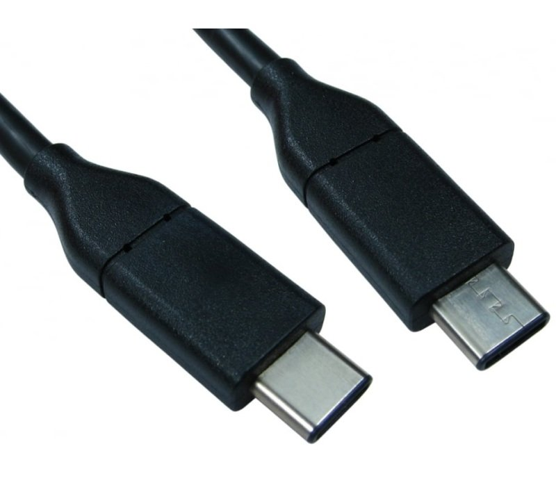 USB Type C male to Type C male Black 1m Cable