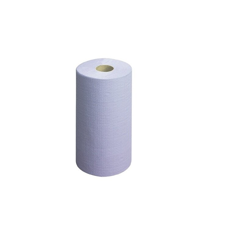 Image of Wypall L20 Wipers Small Couch Roll Blue 140 Sheets (Pack of 6) 7414