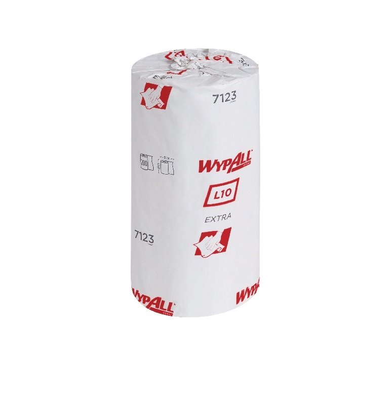 Wypall L10 Small Roll 1 Ply Blue Pack of 12 7123