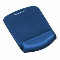 Fellowes Plushtouch Mousepad Wrist Support Blue 9287302