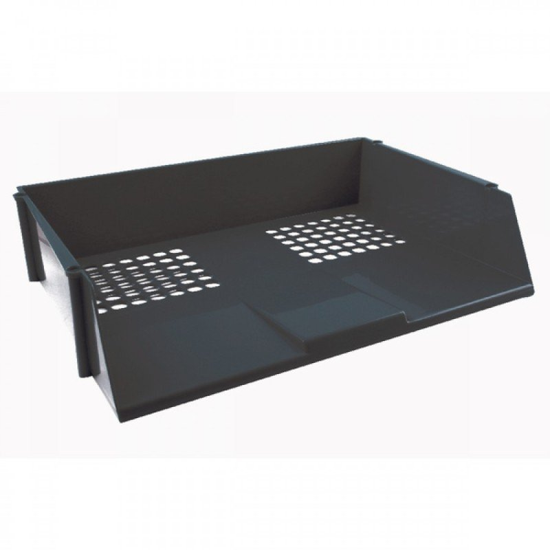 Deflecto Value Letter Tray Wide Entry -  Black