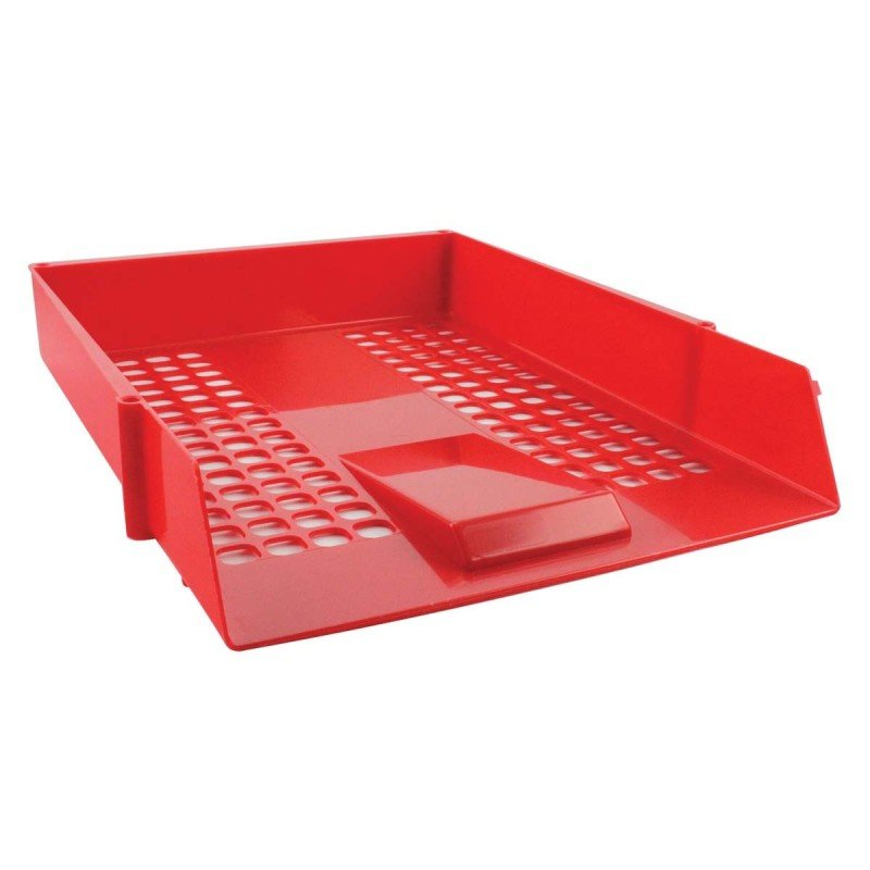 Value Deflecto Letter Tray - Red -CP043YTRED