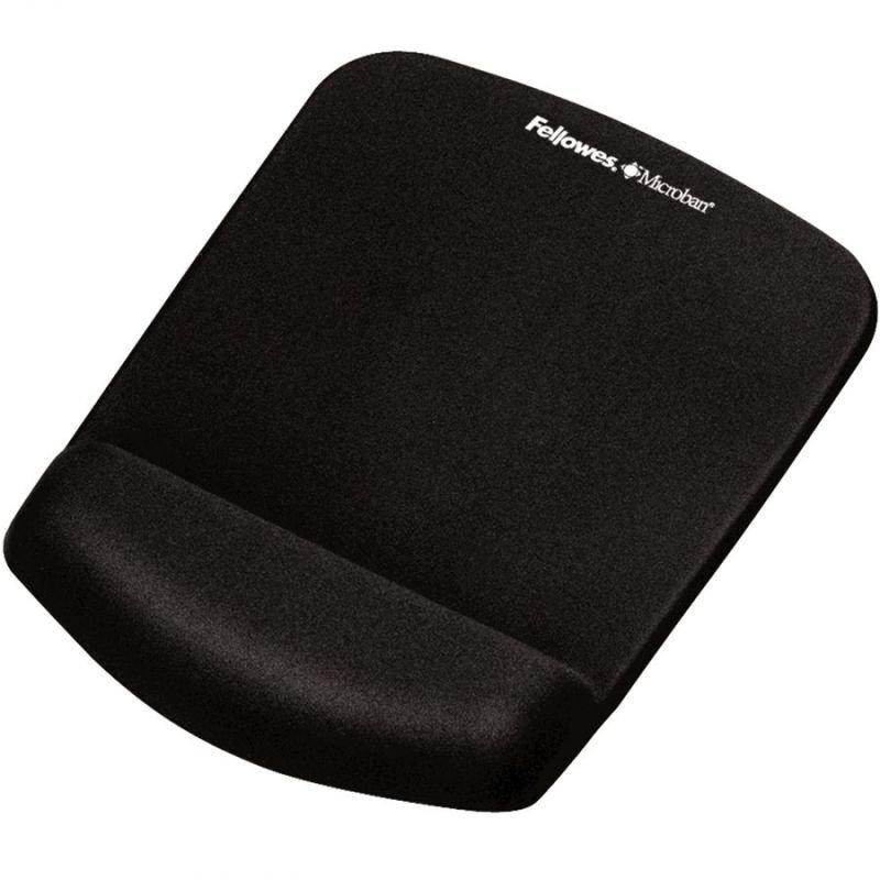 Fellowes Plushtouch Mousepad Wrist Support Black - 9252003