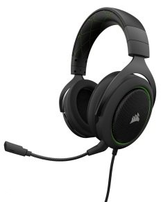 EXDISPLAY Corsair HS50 Green Gaming Headset