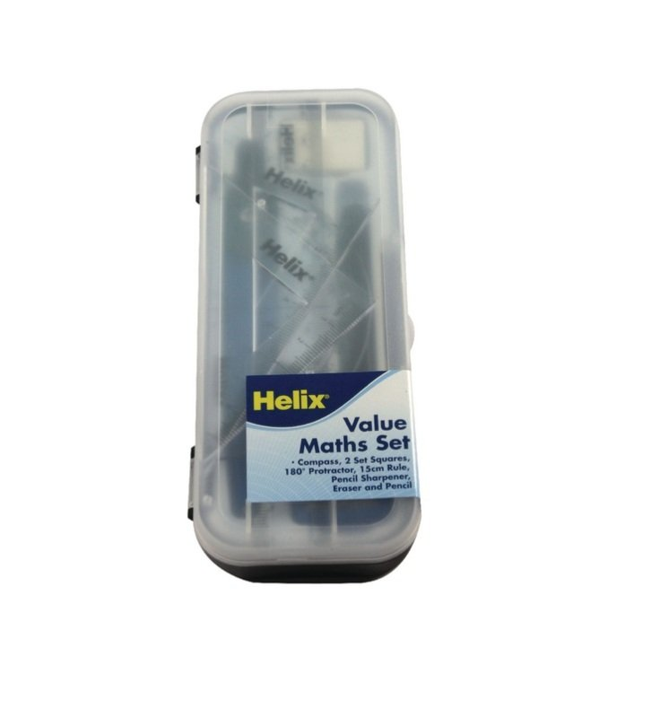 Image of Helix Blue and Clear Value Maths Set - 12 Pack - A54000