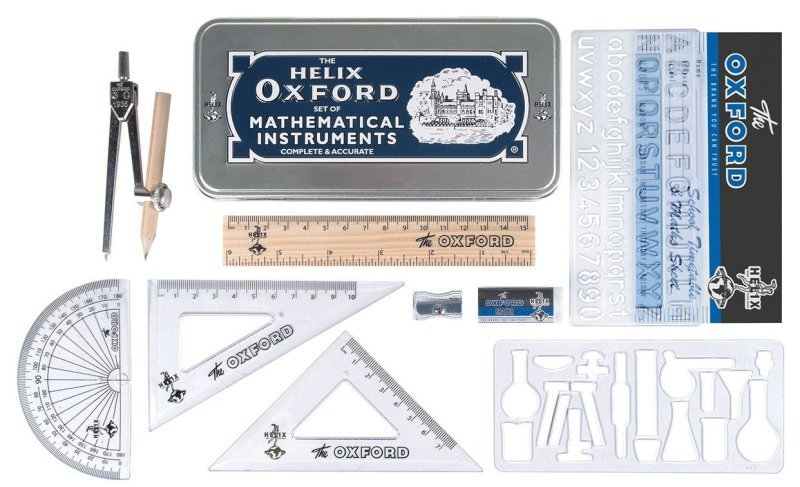 Helix Vintage Oxford Maths Set - 170514