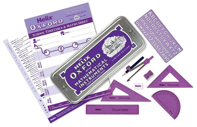 Helix Oxford Limited Edition Colours Maths Set (Purple)