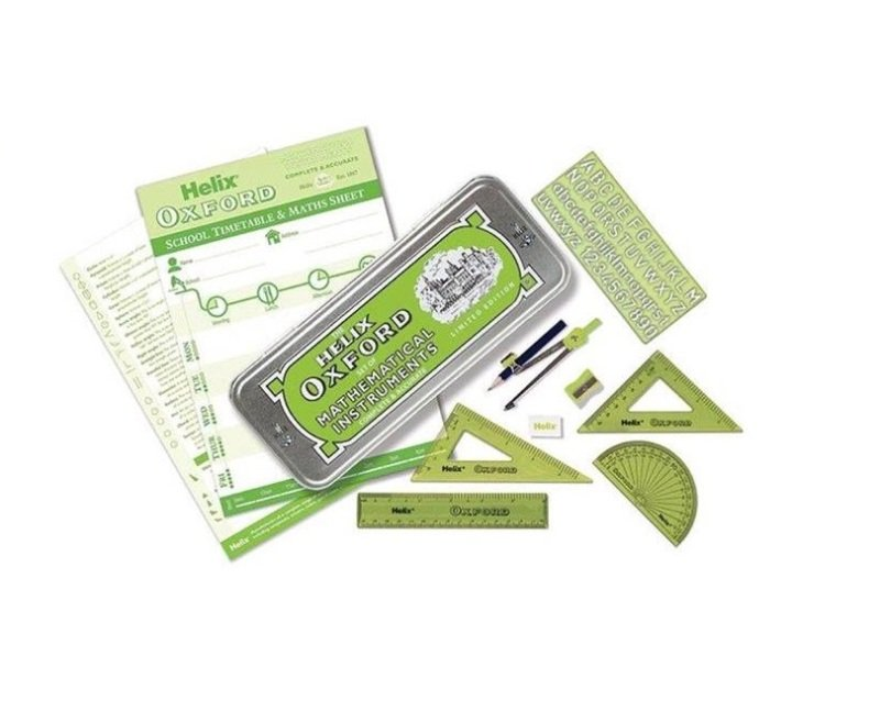 Helix Oxford Limited Edition Colours Maths Set - Green