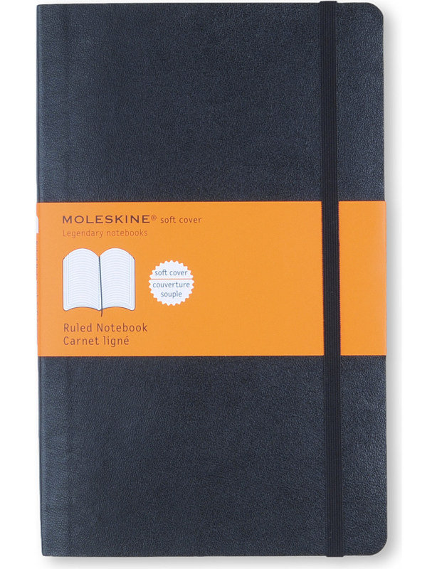 Image of Moleskine Notebook Soft Cover Large 130x210mm Ruled Black QP616