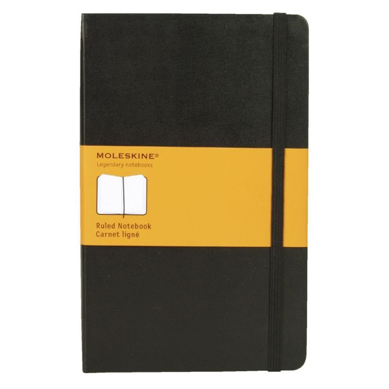 Image of Moleskine Classic Notebook Ruled Large Hard Cover Black QP060