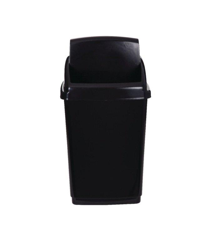 2Work Swing Top Bin 50 Litre Black RB02381