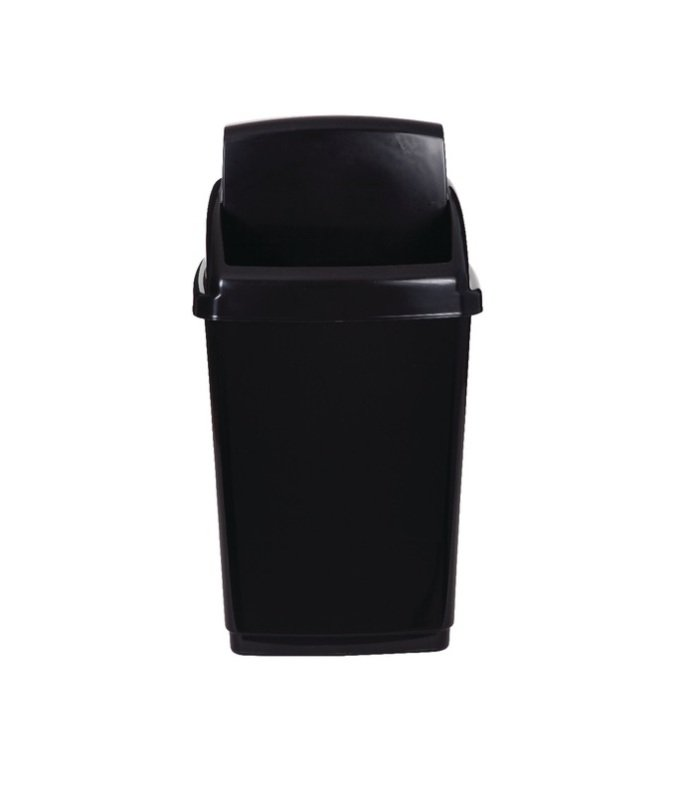 2Work Swing Top Bin 30 Litre - Black