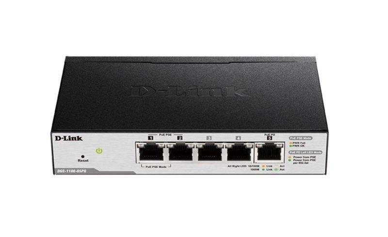 D-Link DGS-1100-05PD 5 Port Smart Switch