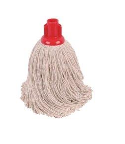 2Work 14oz Twine Rough Socket Mop Red (Pack of 10) PJTR1410I