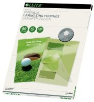 Leitz - 100 - Glossy, Crystal Clear - A3  Lamination Pouches - 74850000