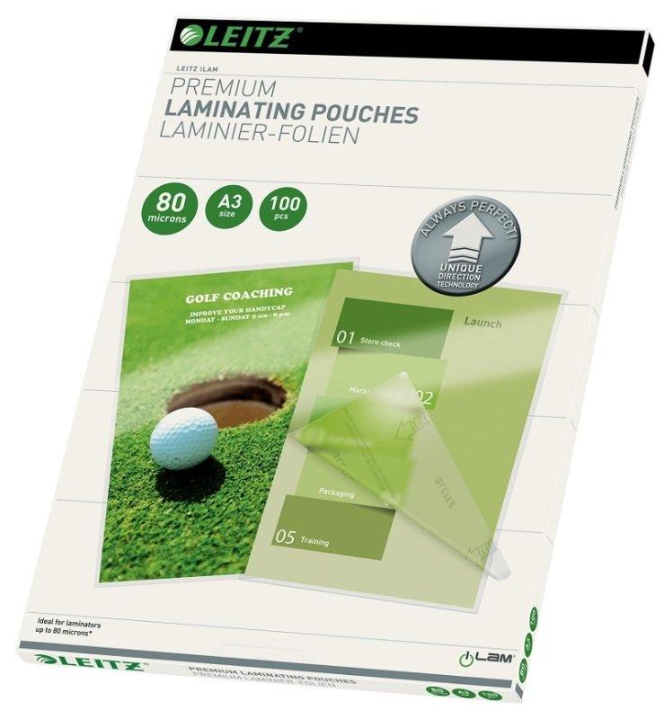Leitz iLAM Premium Laminating Pouches UDT A3 160 Micron (Pack of 100)