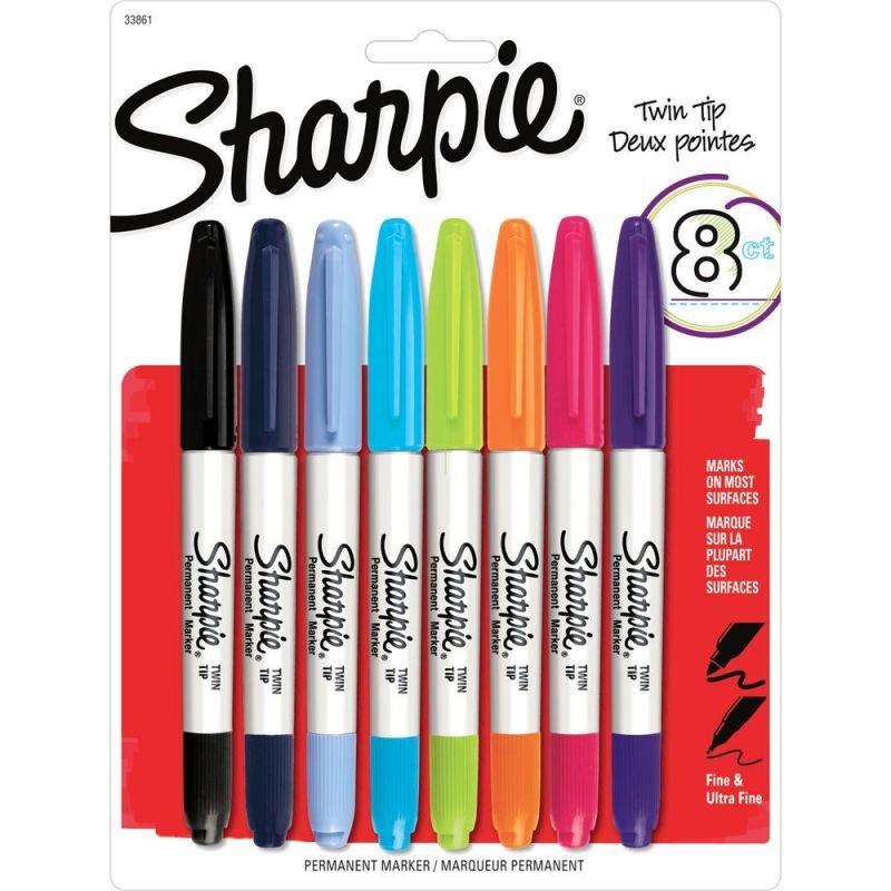 Sharpie Twin Tip Permanent Assorted Marker -1927094