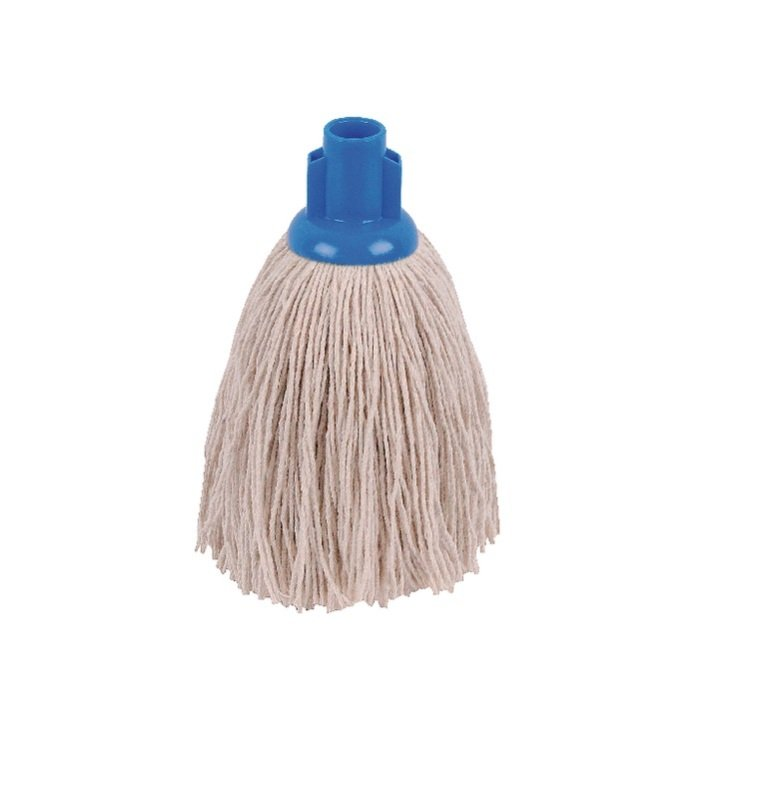 Image of 2Work 12oz Twine Rough Socket Mop Blue Pack of 10 PJTB1210I