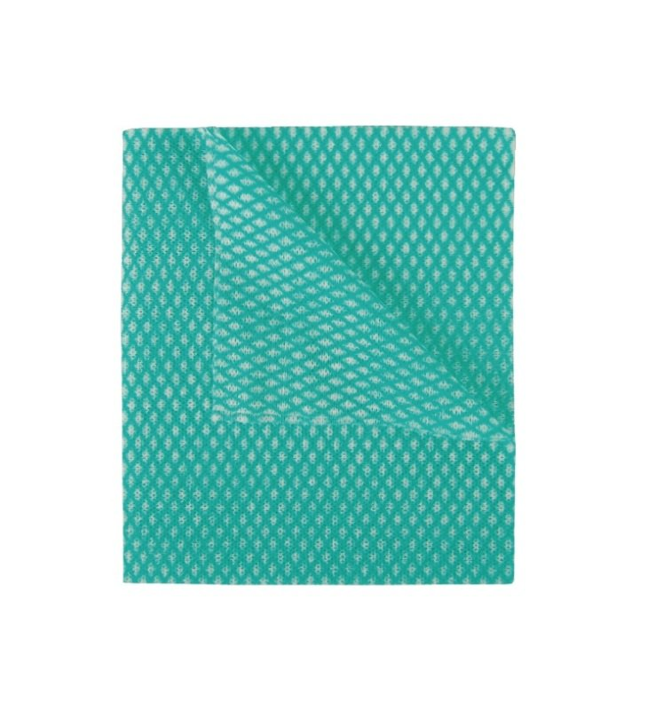 2Work Economy Cloths - Green - Pack of 50