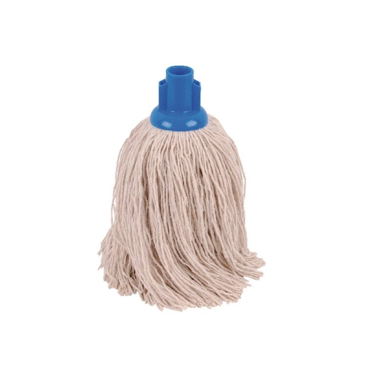 Image of 2Work 12oz PY Smooth Socket Mop Blue Pack of 10 PJYB1210I