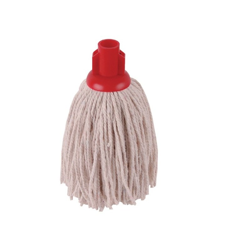Image of 2Work 12oz Twine Rough Socket Mop Red Pack of 10 PJTR1210I