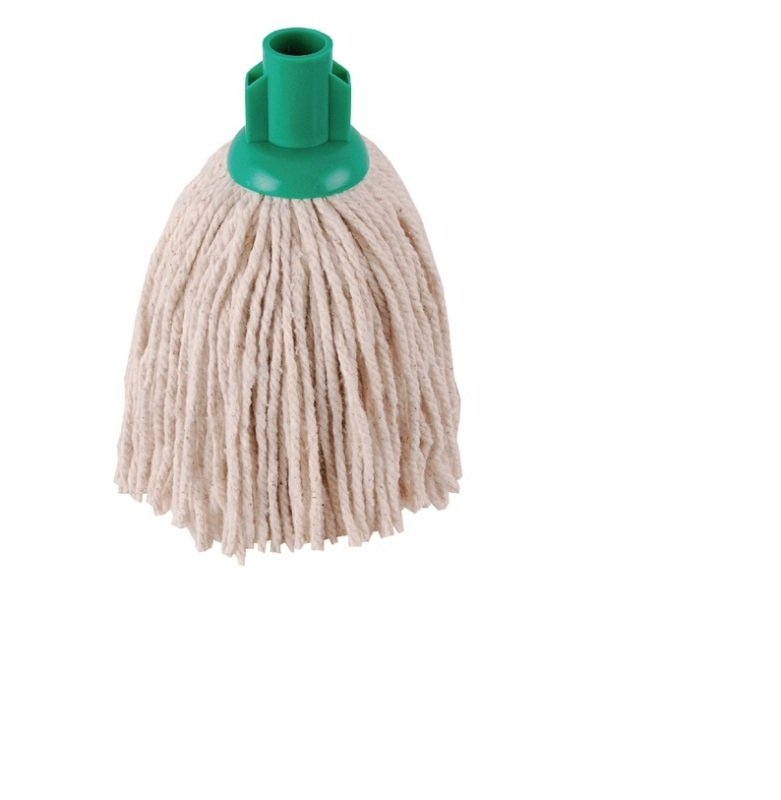 Image of 2Work 12oz Twine Rough Socket Mop Green Pack of 10 PJTG1210I