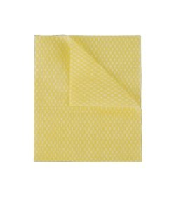 2Work Economy Cloths Yellow 42X35CM (50 Pack)
