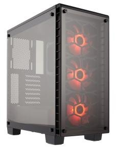 EXDISPLAY Crystal Series 460X RGB Compact ATX Mid-Tower Case