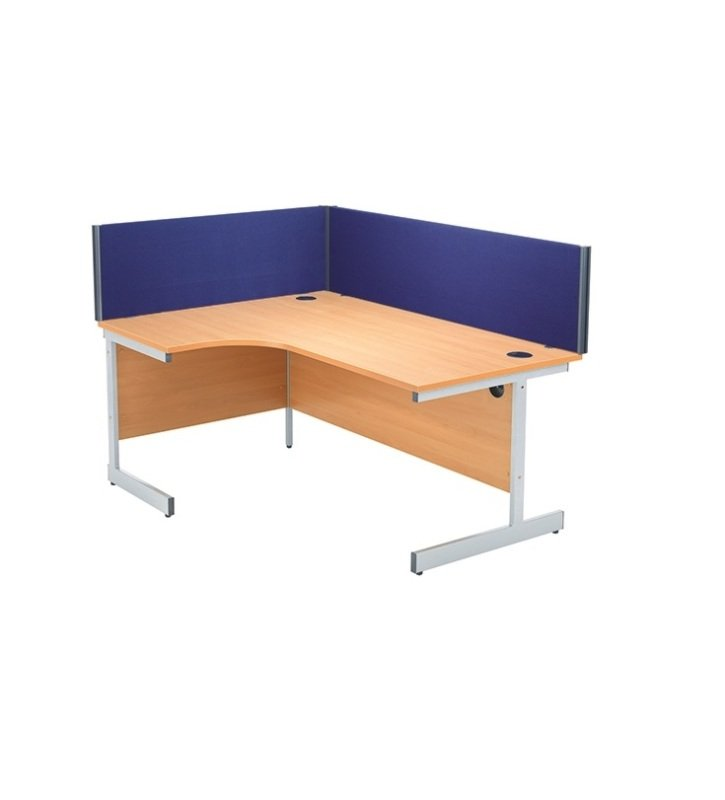 Jemini 1800mm Blue Straight Desk Screen KF73919