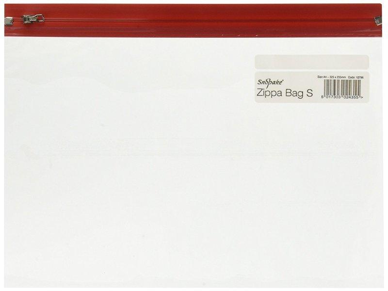 Snopake Zippa-Bag S (A5) Zipped Folder (Single Colour Red) Pack of 25 Folders