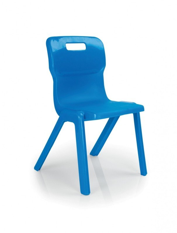 Titan 1 Piece Chair430mm Pk10 Blue