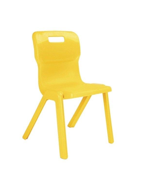 Ff Dd Titan 1 Piece Chair 430mm Pk10 Yellow