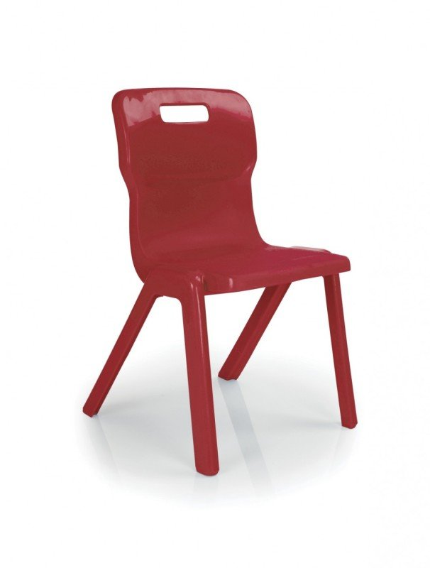 Titan 1 Piece Chair 310mm Pk10 Red