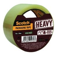 Scotch Heavy Duty 50mmx50m Clear Packaging Tape