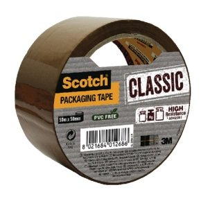 Scotch Classic Packaging Tape 50mmx50m Brown