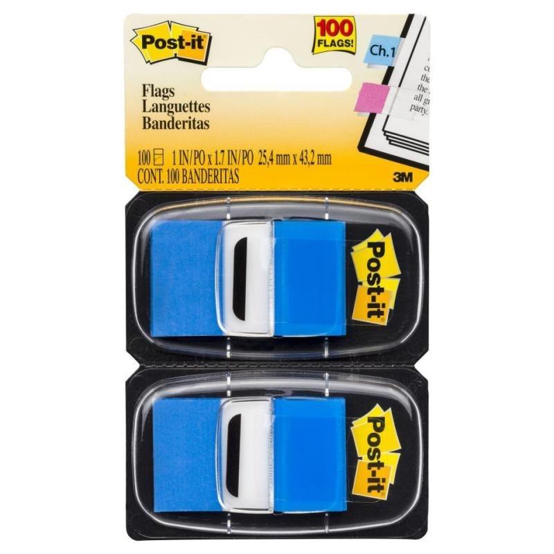 Post-it Index Dispenser Blue (Pack of 2x50) 680-B2EU