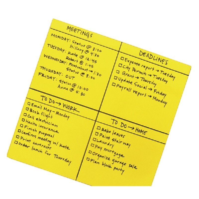 Post-it Super Sticky Yellow Big Notes 279 x 279mm 30PK