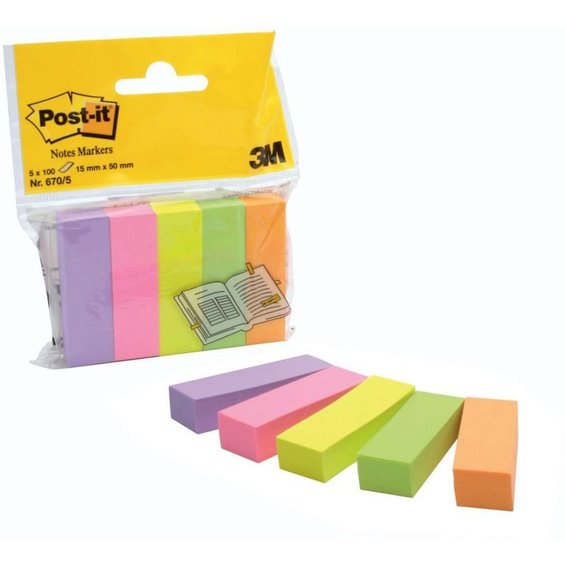 Post-it Assorted Page Markers (Pack of 500)