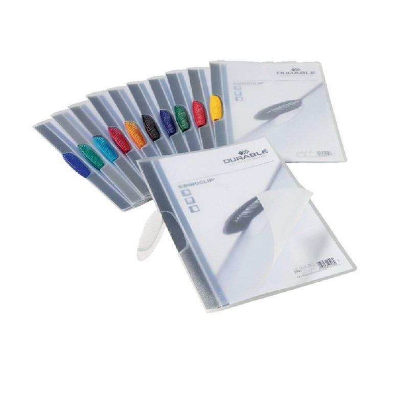 Durable Swingclip Folders 3mm Assorted (25Pack)