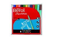 Berol Colour Broad Pens with Water Based Ink Assorted