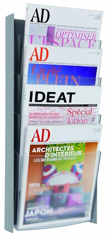 Image of Alba Wall Display Unit 4 Pocket A4 Metallic W270xH560mm DDPROGmm
