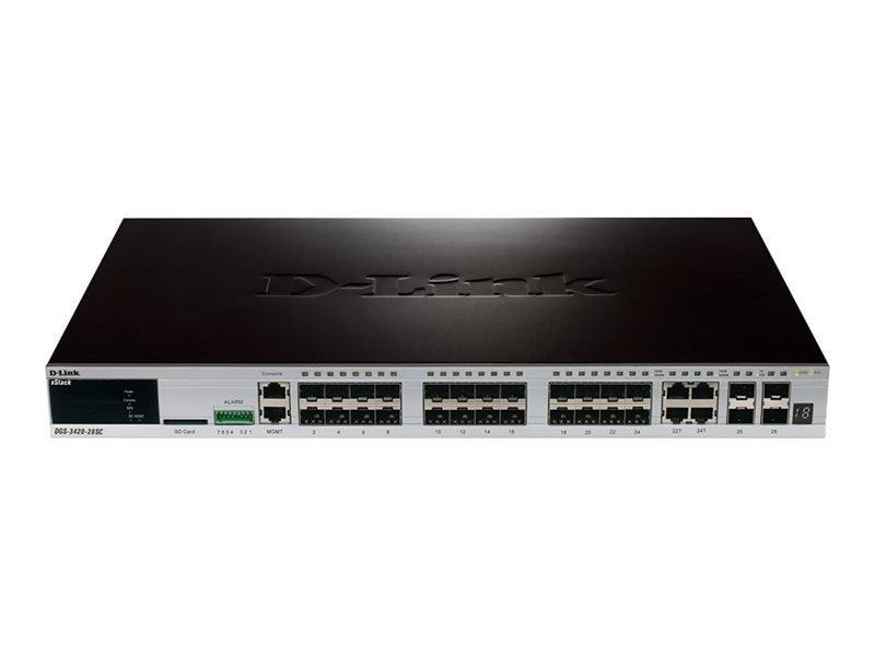 D-Link xStack DGS-3420-28SC 28 Port Managed Switch