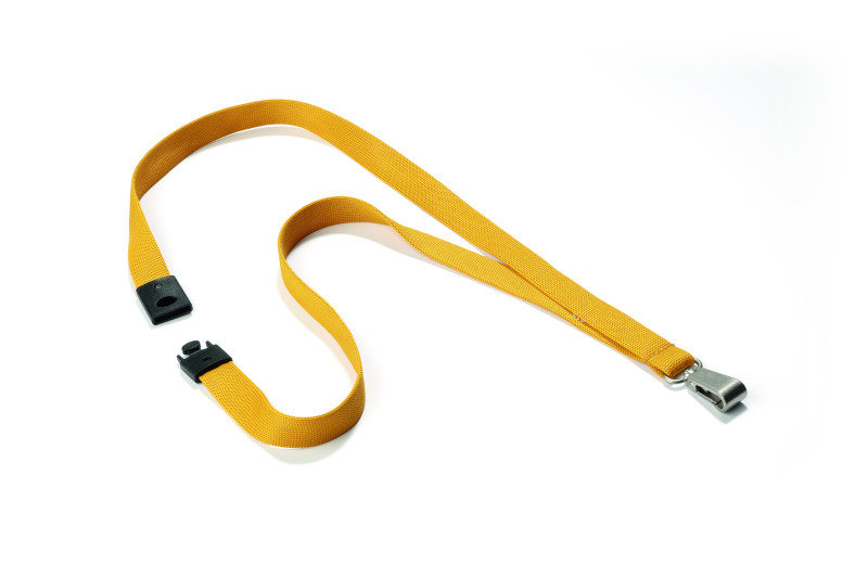 Durable Textile Lanyard With Snap Hook 15mm Ochre