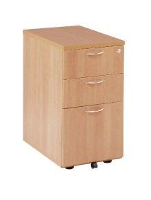 First Tall Under Desk Pedestal 3 Drawer Beech KF74917