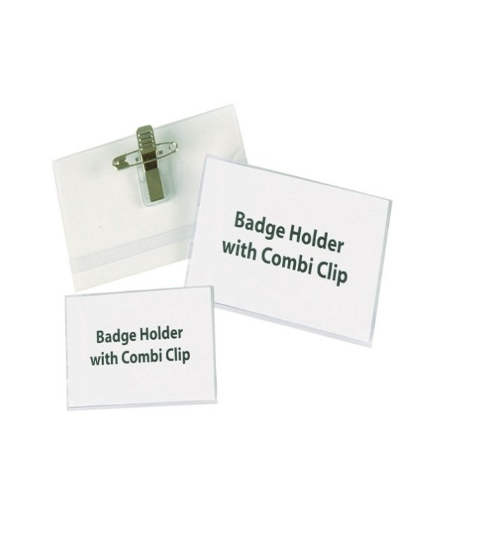 Announce Combi Clip Name Badge 40x75mm (Pack of 50) PV00917