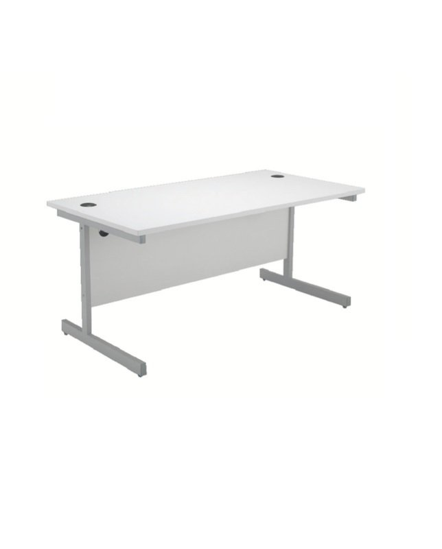 Jemini 1200mm Cantilever Rectangular Desk White