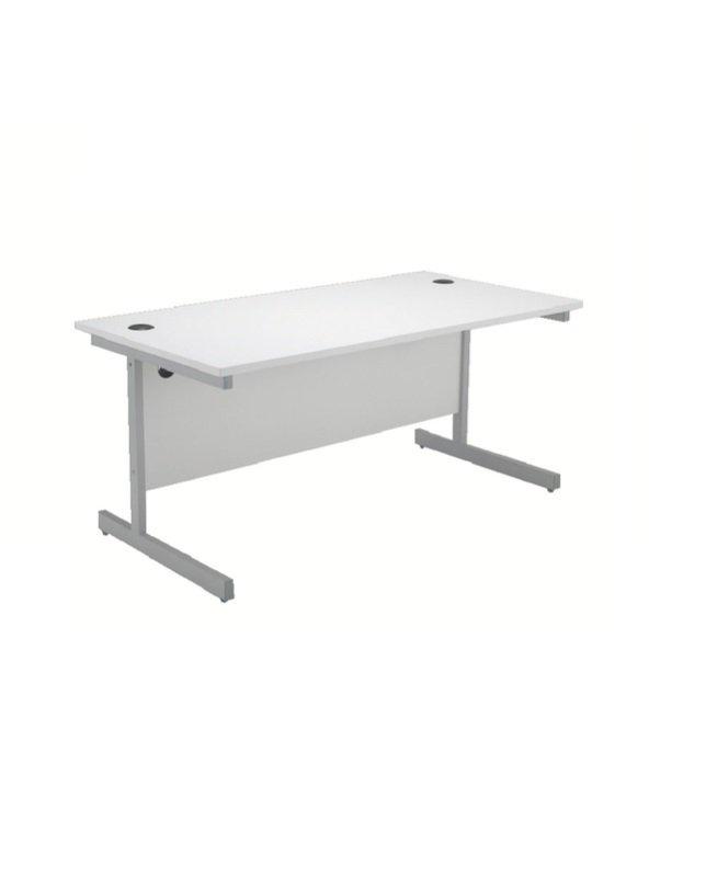 Jemini 1600mm Cantilever Rectangular Desk White