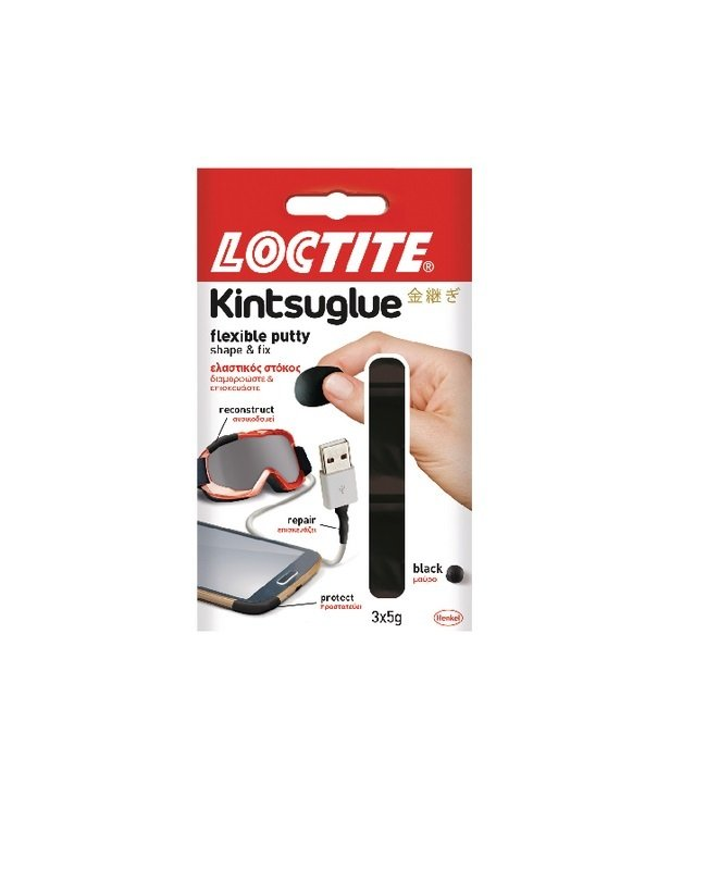 Loctite Kintsuglue Putty Black 5g (Pack of 3)
