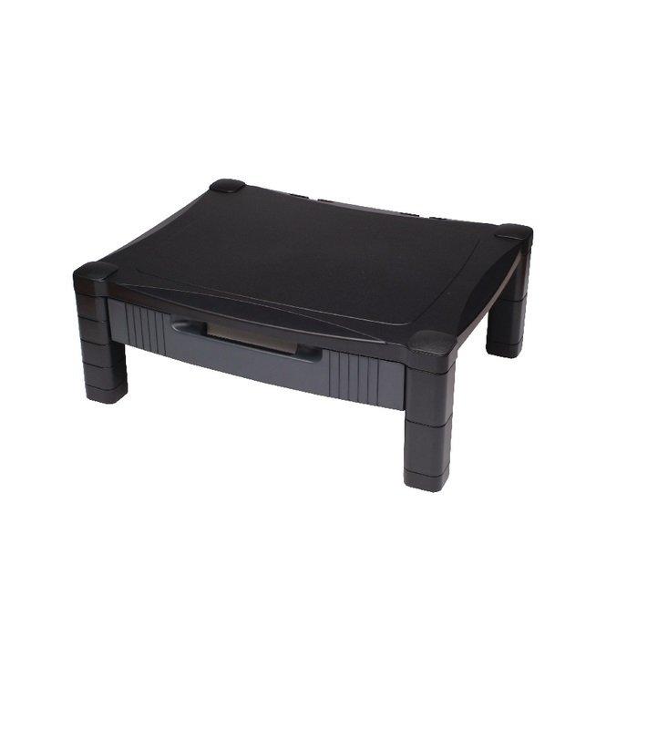 Contour Ergonomics Adjustable Stand With Drawer Black